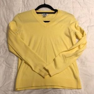 Yellow cotton vneck sweater